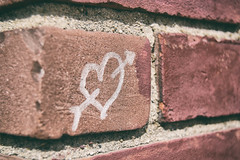 The Space In-between The Bricks (idawnm) Tags: heart love brick outdoor color space inbetween macro macromonday hmm photo photography architecture