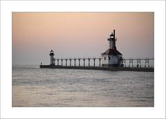 St. Joseph Light House (DJ Wolfman) Tags: stjoseph michigan michiganfavorites michiganlighthouses lakemichigan lake sunset sony rx10 lighthouse color