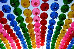 17023996 (felipe bosolito) Tags: korea seoul colors lampion lantern many sky colorful temple fuji xpro2 xf1855 velvia sun rows sooc
