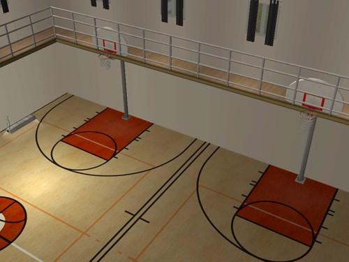 Indoor Basketball Court. Indoor Basketball Courts