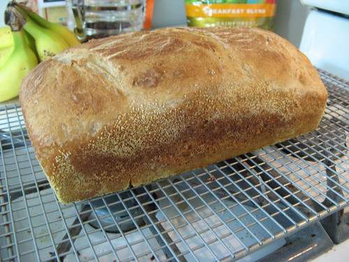 Wheat bread cooling