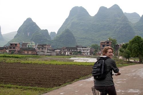 Cycling around Yangshuo