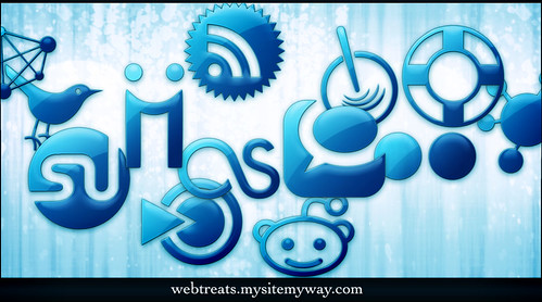 Blue Jelly Social Media Icons by webtreats, on Flickr