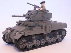 "Canadian Ram Tank Mk.II (final version) (""Rumrunner"") Tags: army gun tank lego wwii machine canadian prototype ww2 ram armour worldwar2 mkii allies brickarms m1919"