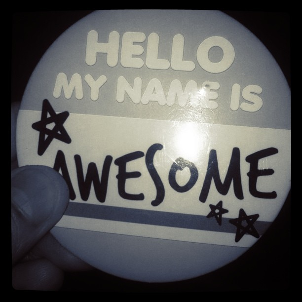 my name is awesome sticker
