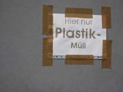 Hier nur Plastik-Müll