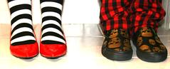 BFFs... (Julie™) Tags: red white black rock skull shoes julie bestfriends leftisdefinitelythebest