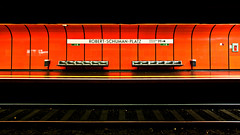 Red station panorama (manganite) Tags: red panorama signs texture topf25 colors wall digital buildings germany underground subway geotagged topf50 nikon topf75 colorful europe bonn pattern metro tl empty tracks seats udo stitching onecolor d200 exit subwaystation minimalism nikkor dslr emergency topf100 minimalistic soe northrhinewestphalia fav100 thecolorred 18200mmf3556 utatafeature manganite nikonstunninggallery 25faves ipernity abigfave date:year=2007 geo:lat=5070663 geo:lon=7137782 date:day=1 date:month=november format:ratio=169