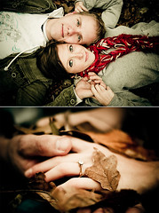 (kylehale) Tags: atlanta wedding jared fall leaves portraits engagement nikon diptych marriage ground lovers embrace eryn diamondring d80