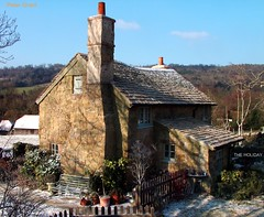 The Holiday film set in Sheer Surrey England (pg tips2) Tags: christmas uk england sun snow stone facade garden frost cottage surrey lane memory views plus 5000 1000 filmset 1k shires shere 15000 theholiday view1000 holidayfilmset