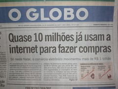 Capa do o Globo - dia 24/12/2007