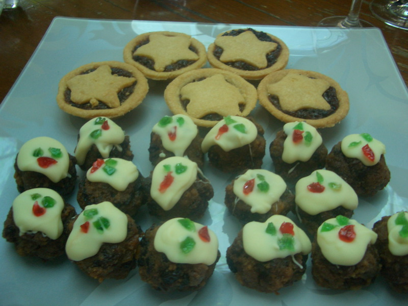 Phillippa's mince tarts and Mum's miniature Christmas puddings