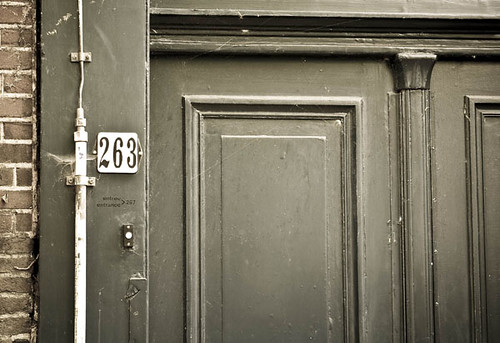 anne frank house door