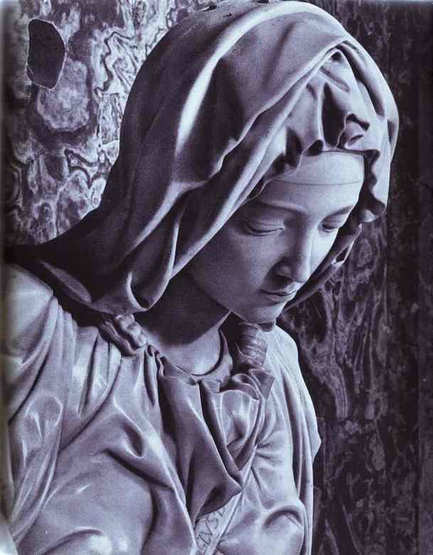 MICHELANGELO, Buonarroti Pieta (detail), 1499