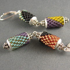arata double earrings no. 3 (yellowplumbeads) Tags: silver beads handmade jewelry bead handcrafted sterling earrings etsy beaded artisan yellowplum beadwork dangly sterlingsilver seedbeads handmadejewelry beadweaving beadedjewelry artisanjewelry peyotestitch handcraftedjewelry colorfuljewelry yellowplumbeads etsymaine