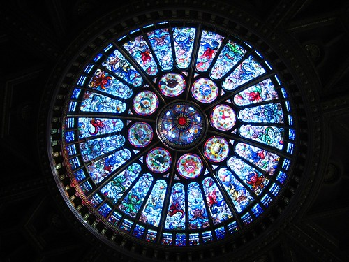 Stained Glass Dome in HHOF