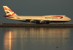 British Airways (G-BNLS) (A Sutanto) Tags: sf sanfrancisco california ca usa america reflections airport sfo jets jet planes ba boeing airlines britishairways runway magichour airliners b747 ksfo b747400 mywinners diamondclassphotographer gbnls