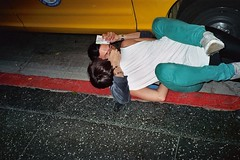 Gutter (brittnymoore) Tags: party fall drunk wasted fun la losangeles cab taxi falling hollywood gutter fell cinespace