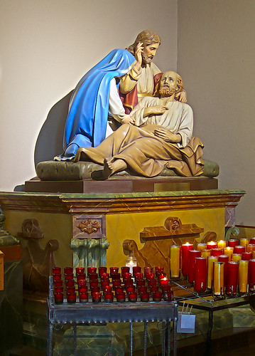 Saint Joseph Shrine, in Saint Louis, Missouri, USA - the death of Joseph