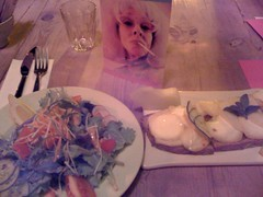 Dinner at Le Pain Quotidien in the Marais