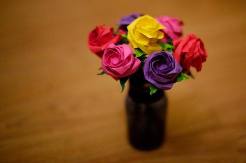 valentines origami. Origami Roses