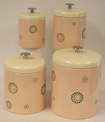 "Restored Retro Kitchen Cannister Set for sale • <a style=""font-size:0.8em;"" href=""http://www.flickr.com/photos/85572005@N00/2282502245/"" target=""_blank"">View on Flickr</a>"
