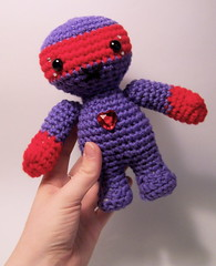 Mr. Danger (michellerheaume) Tags: cute art toy stuffed play sweet handmade crochet craft plush softie kawaii etsy amigurumi