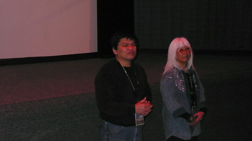 Image of Tinh Mahoney and Emiko Omori at the screening of 7,500 Miles of Redemption at the Ashland Film Festival.