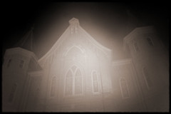Haunted Tabernacle (jrbechthold) Tags: postprocessing wannabeholga wannabelomo utata:project=nocturnal2 provolights