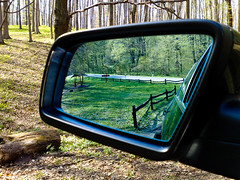 Last photo from my Nokia N95 (marikp1018-analogue) Tags: cameraphone nature car mirror nokia n95 mywinners marikpeter