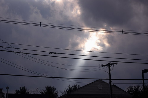 Storm clouds breaking