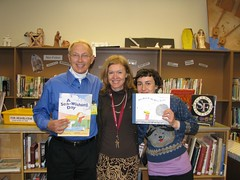 Robert, Librarian Felicity Eadon, and Lisa