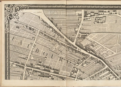 Plan de Paris by Louis Bretez + Claude Lucas 1739 sequence 4