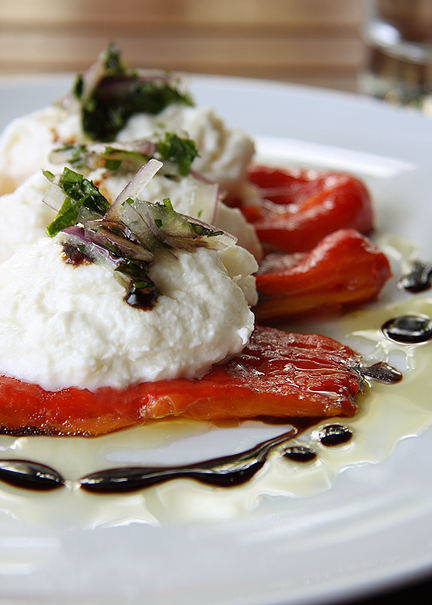 Fraiche Culver City Burrata Red Peppers