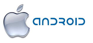 Apple Google Android logo