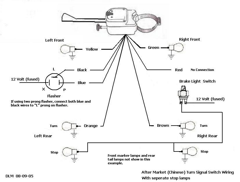 marker turn signal flasher wiring diagram diy enthusiasts wiring rh okdrywall co Yankee Turn Signal Switch Yankee Turnflex 730 736