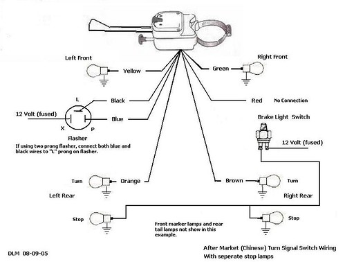 universal directional switch wiring diagram universal signal switch wiring diagram thesamba.com :: kit car/fiberglass buggy - view topic ...