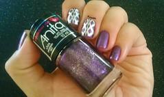 Lívia - Anita + BP 94 (Raabh Aquino) Tags: unhas roxo foil