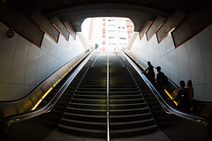 And She Takes Your Voice and Leaves You Howlling at the Moon (Thomas Hawk) Tags: america california clearlight clearlight1971 losangeles marcevans metrorail robingriggswood usa unitedstates unitedstatesofamerica escalator stairs subway fav10 fav25 fav50 fav100