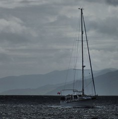 Yacht in Corran Narrows