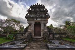 Temple Gates (Alexander Ipfelkofer) Tags: door bali architecture clouds indonesia landscape temple gate hdr contrejour purasamuantiga