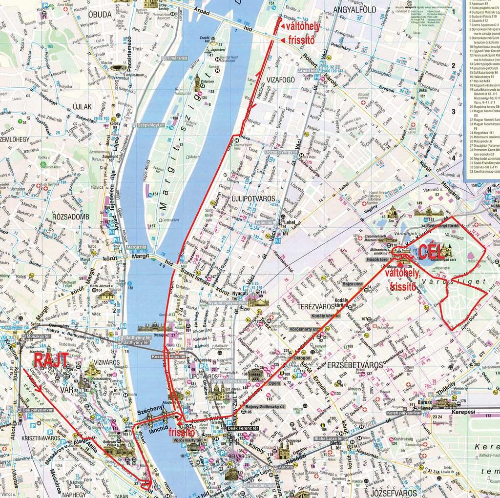 NATO futás - Térkép