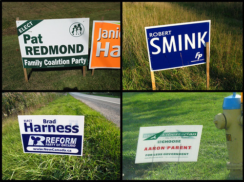 Signs for Other Political Parties