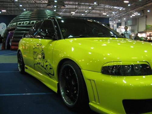 Green tuning car