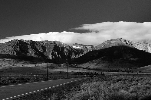 Photo: Eastern Sierra in black and white. Photo by Edie Howe-Byrne.