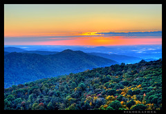 Blue Ridge Mountains (Nikographer [Jon]) Tags: autumn fall leaves sunrise landscape virginia landscapes nikon october oct foliage va d200 hdr 2007 shenandoahnationalpark snp photomatix nikographer fav12007 bestnaturetnc07 20071020d200107321 jss20081 4donegi