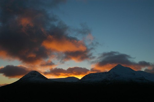 Sunrise over the Mamores