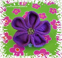 Broche Flor (Las cositas de Silvia  ;D) Tags: flower broche brooch flor violet violeta morado kanzashi
