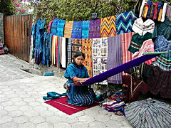 Maya woman weaving on a backstrap loom, Santa Catarina, Guatemala, Photo by RHursey (ali eminov) Tags: maya backstraploom looms textiles mayacloth santacatarinapalopo guatemala centralamerica fabrics fabricart cloth