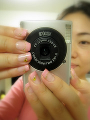 New IXY, with new Nails (JAPANeyes529) Tags: camera me canon nails ixy 910is